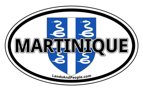 Martinique Coat of Arms Car Bumper Sticker