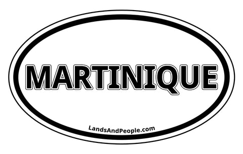 Martinique Car Bumper Sticker Decal