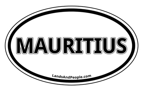 Mauritius Car Bumper Sticker Decal Oval