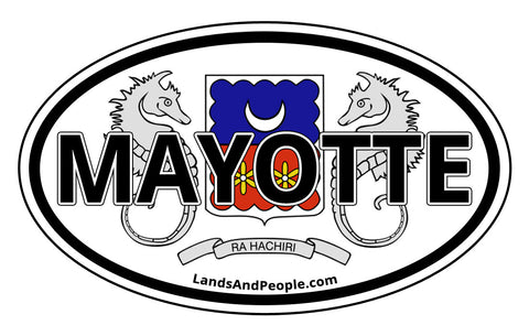 Department of Mayotte French Island Car Bumper Sticker Oval