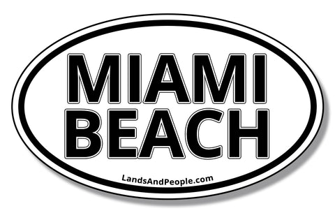 Miami Beach Florida Sticker Decal Oval