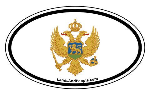 Montenegro Coat of Arms Sticker Decal Oval