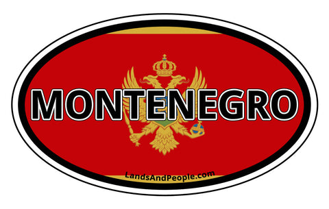 Montenegro Flag Sticker Decal Oval