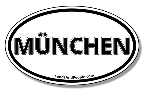 München Munich Bavaria Car Vinyl Sticker Oval