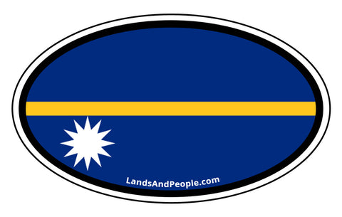 Nauru Flag Car Bumper Sticker