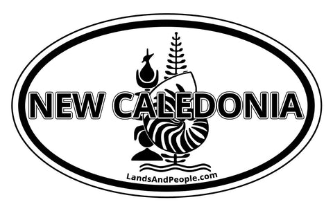 New Caledonia Car Bumper Sticker Decal