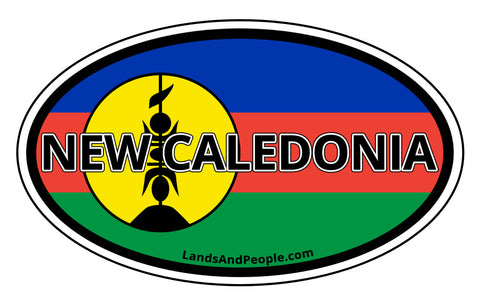 New Caledonia Flag Car Bumper Sticker Decal