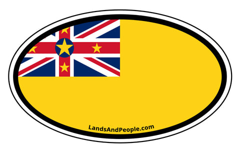 Niue Flag Car Bumper Sticker Decal