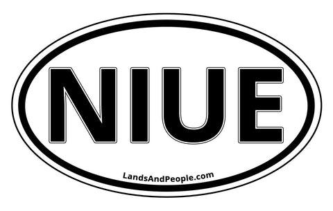 Niue Car Bumper Sticker Decal