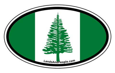 Norfolk Island Flag Car Bumper Sticker Decal