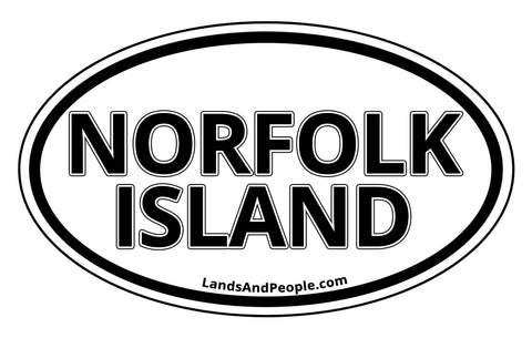 Norfolk Island Car Bumper Sticker Decal