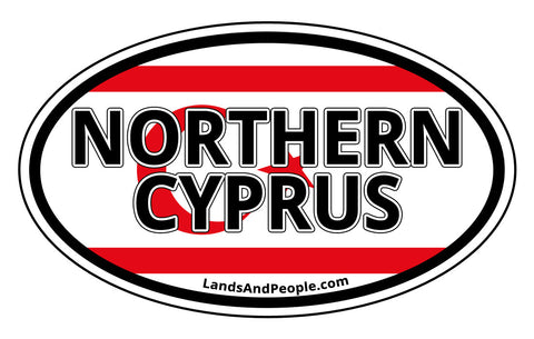 Northern Cyprus Flag Sticker Oval