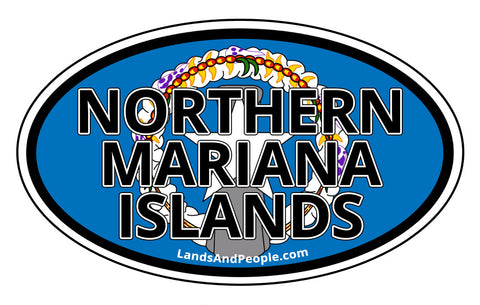 Northern Mariana Islands Flag Car Bumper Sticker