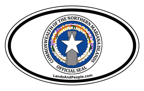 Northern Mariana Islands Coat of Arms Car Bumper Sticker