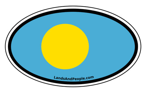 Palau Flag Car Bumper Sticker Decal