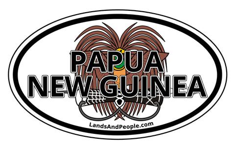 Papua New Guinea Coat of Arms Car Sticker Decal