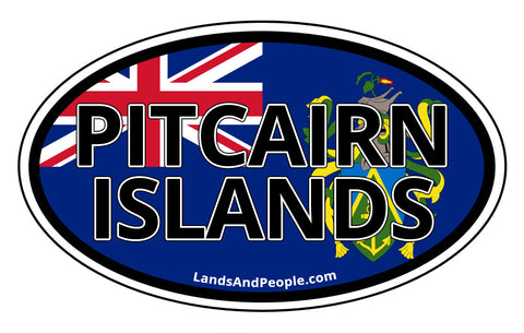 Pitcairn Islands Flag Car Bumper Sticker Decal