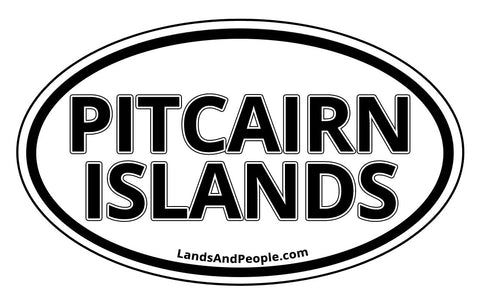 Pitcairn Islands Car Bumper Sticker Decal