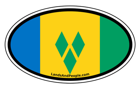 Saint Vincent and the Grenadines Flag Car Bumper Sticker