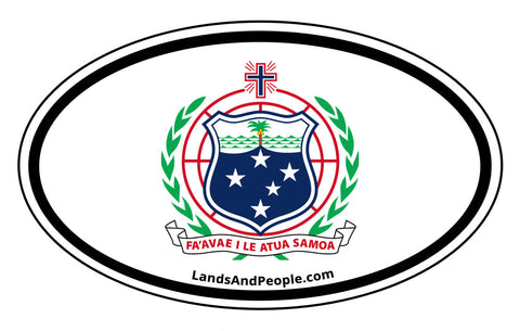 Samoa Coat of Arms Car Bumper Sticker