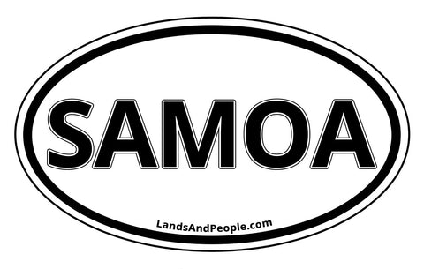 Samoa Car Bumper Sticker