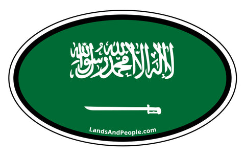 Saudi Arabia Flag Sticker Oval