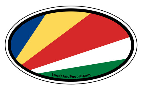 Seychelles Flag Car Sticker Oval