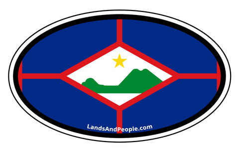 Sint Eustatius Flag Car Bumper Sticker Decal