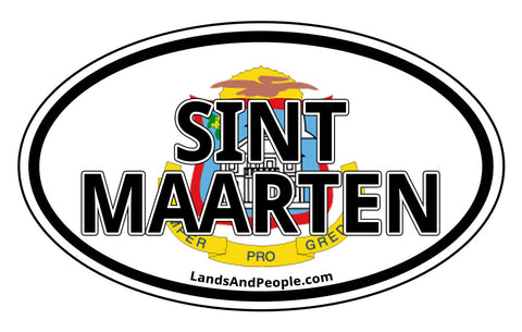 Sint Maarten Car Bumper Sticker Decal