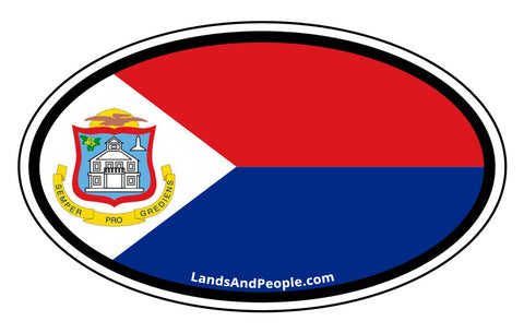 Sint Maarten Flag Car Bumper Sticker Decal