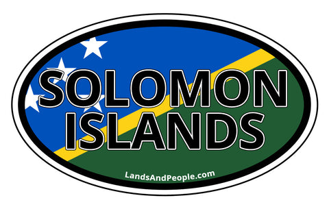 Solomon Islands Flag Car Bumper Sticker Decal