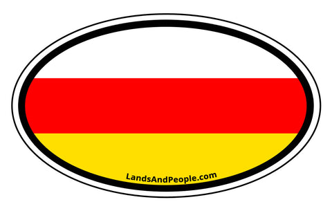 South Ossetia Flag Sticker Oval