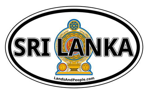 Sri Lanka State Emblem Sticker Oval