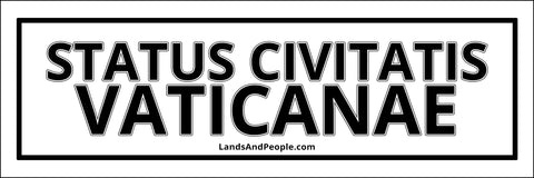 "Status Civitatis Vaticanae, ""State of Vatican City"" in Latin, Sticker Decal"