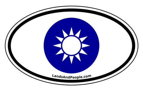 Taiwan National Emblem Car Sticker Oval