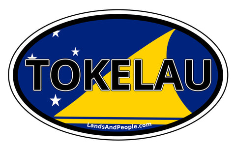 Tokelau Flag Car Bumper Sticker Decal