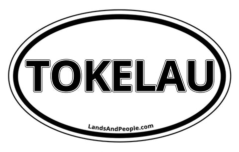 Tokelau Car Bumper Sticker Decal