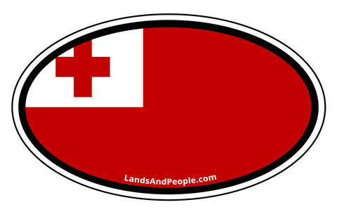 Tonga Flag Car Bumper Sticker Decal