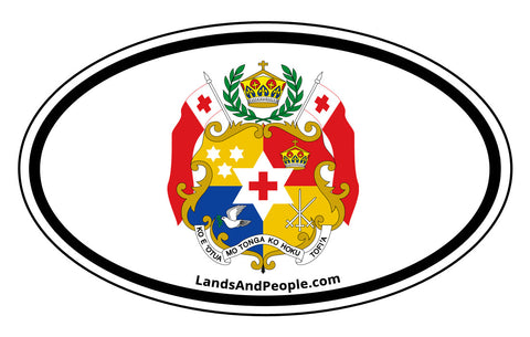Tonga Coat of Arms Car Bumper Sticker Decal