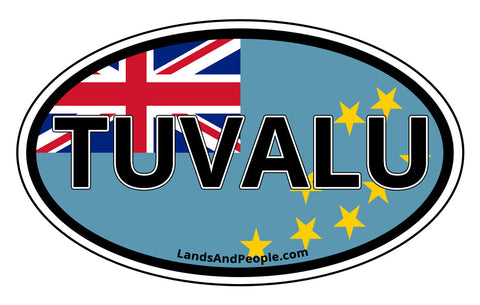 Tuvalu Flag Car Bumper Sticker Decal