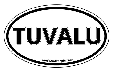 Tuvalu Car Bumper Sticker Decal