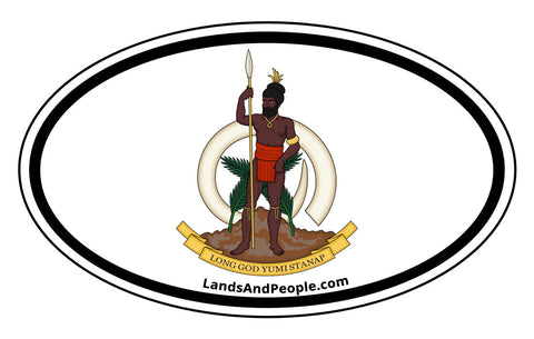Vanuatu Coat of Arms Car Bumper Sticker