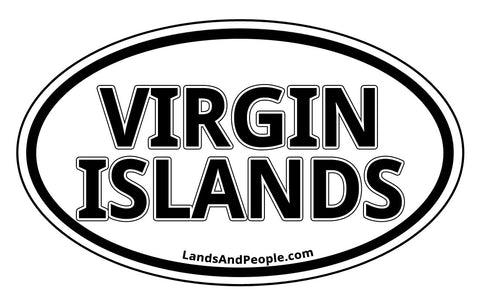 British Virgin Islands Car Bumper Sticker Decal