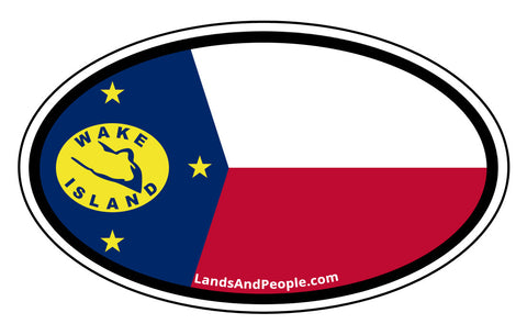 Wake Island Flag Car Bumper Sticker Decal