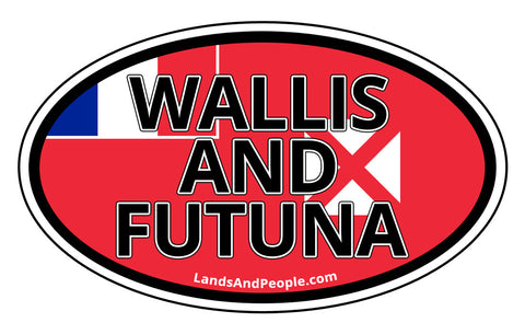 Wallis and Futuna Flag Car Bumper Sticker Decal
