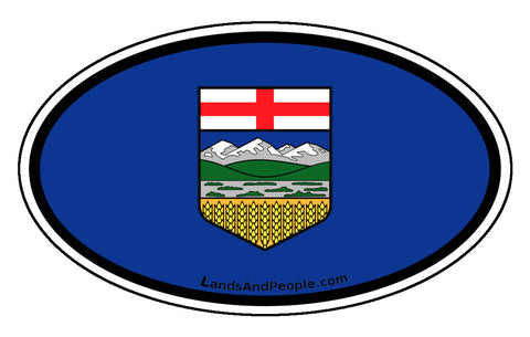Alberta Province Flag Car Bumper Sticker Vinyl Oval