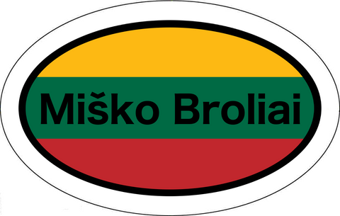 Miško Broliai Lithuanian Flag Car Sticker Oval