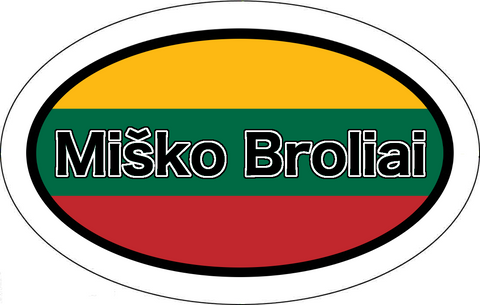 Miško Broliai Lithuania Flag Car Sticker Oval