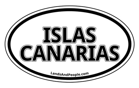 Islas Canarias Canary Islands Sticker Oval