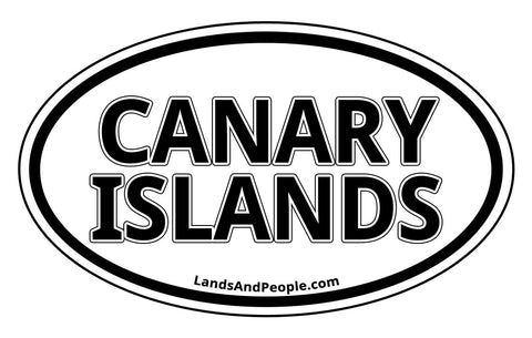 Canary Islands Sticker Oval